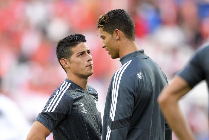 James Rodriguez et Cristiano Ronaldo, Real Madrid