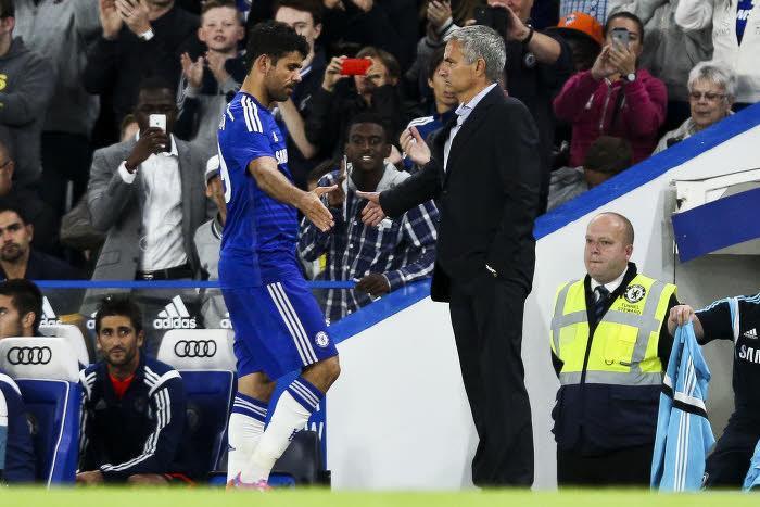 Diego COsta et José Mourinho, Chelsea