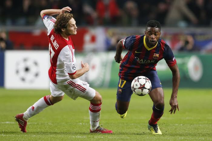 Alex Song face à Daley Blind