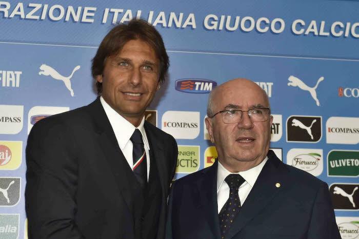 Antonio Conte et Carlo Tavecchio