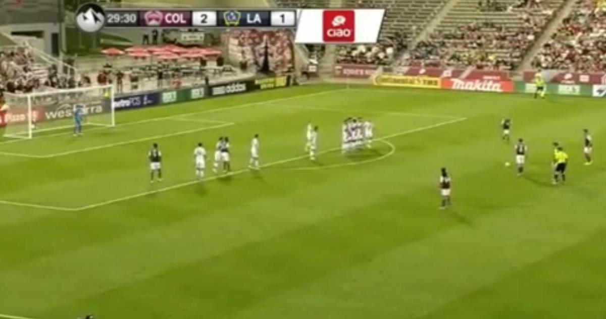 Superbe coup franc en MLS (vidéo)