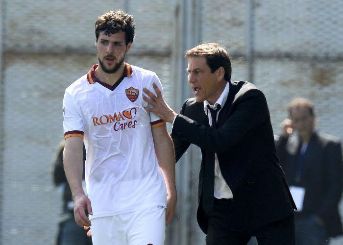 Mattia Destro et Rudi Garcia, AS Rome