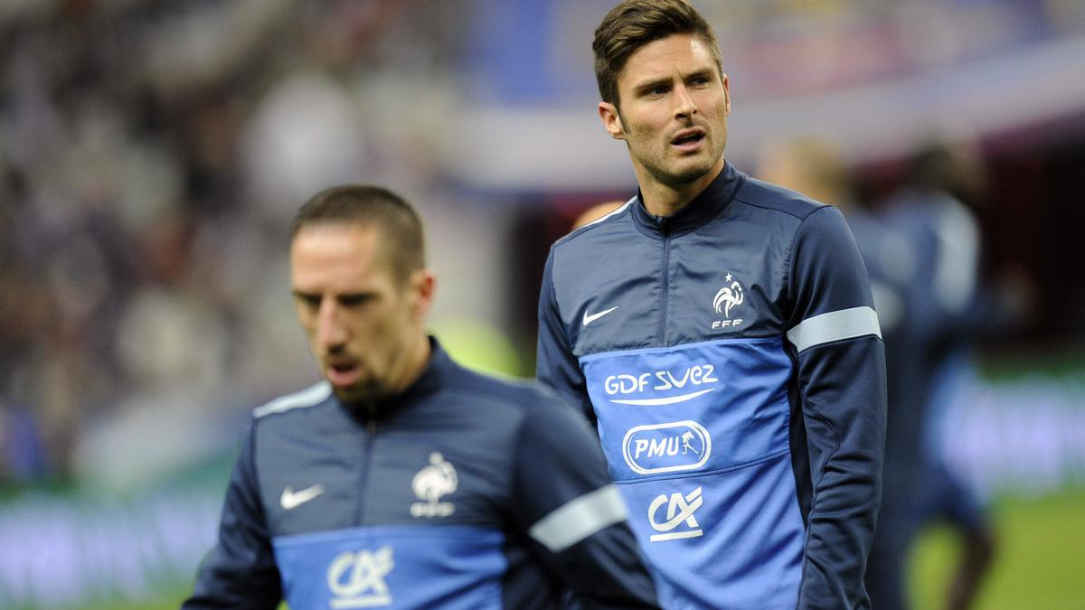 Franck ribéry - Olivier Giroud, équipe de France
