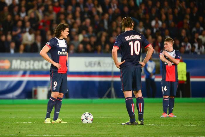 Zlatan Ibrahimovic et Edinson Cavani, PSG