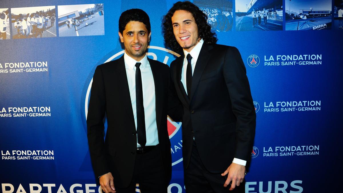 Nasser Al-Khelaïfi & Edinson Cavani