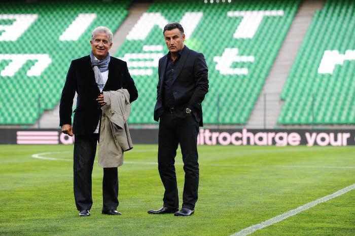 Bernard Caïazzo et Christophe Galtier, ASSE