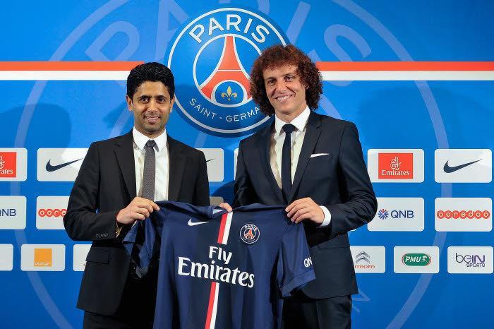 Nasser Al-Khelaïfi - David Luiz