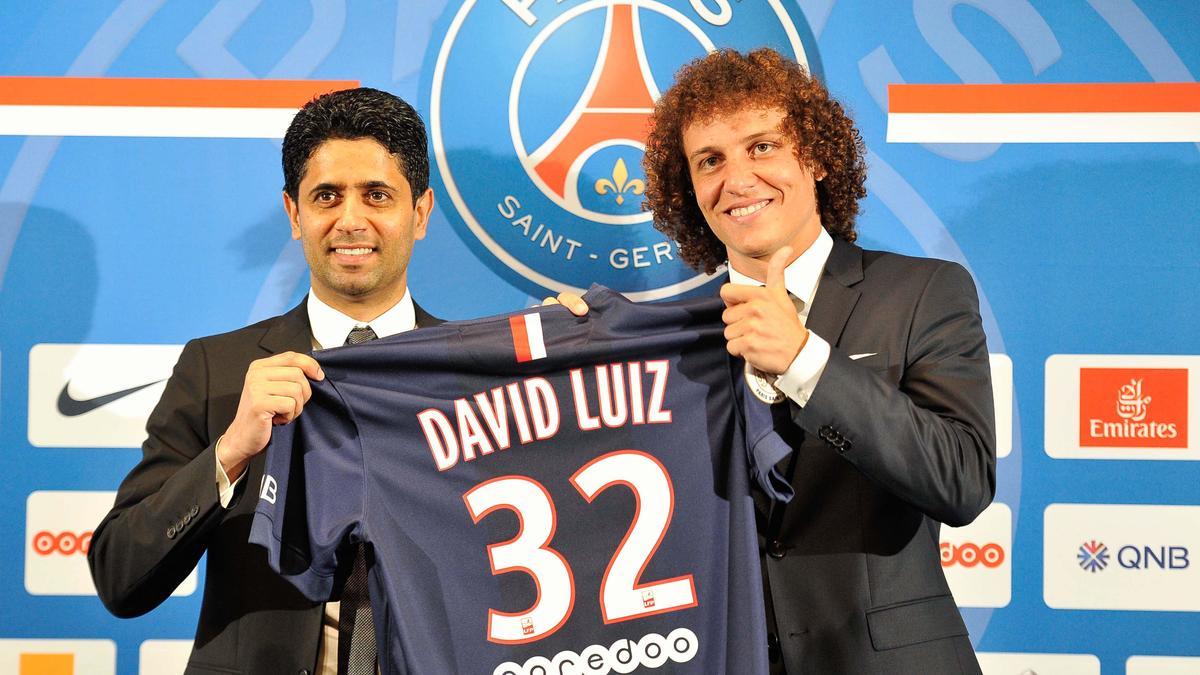 Nasser Al-Khelaïfi & David Luiz