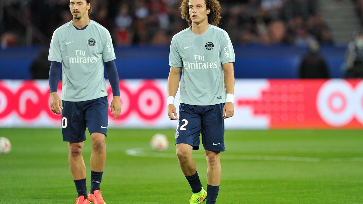 Zlatan Ibrahimovic - David Luiz, PSG