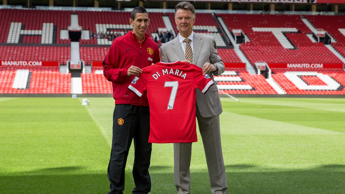 Angel Di Maria & Louis Van Gaal