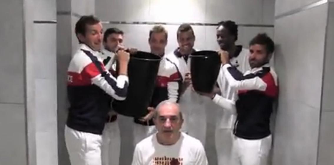 Tennis - Coupe Davis : L'«Ice Bucket Challenge» de l'équipe de France (vidéo)