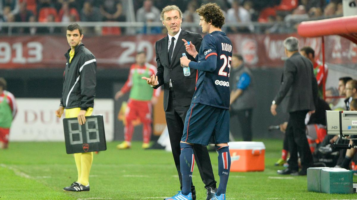 Adrien Rabiot et Laurent Blanc, PSG