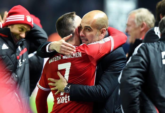 Guardiola, Ribéry, Bayern Munich