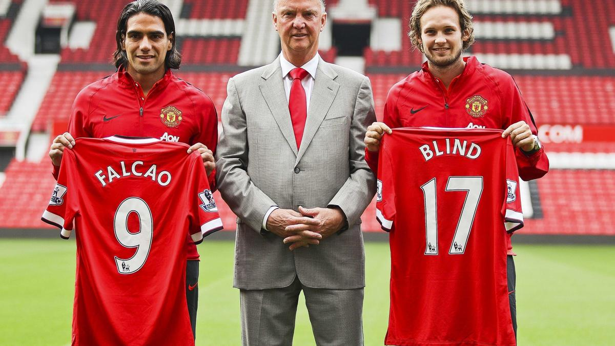 Radamel Falcao, Louis Van Gaal & Daley Blind
