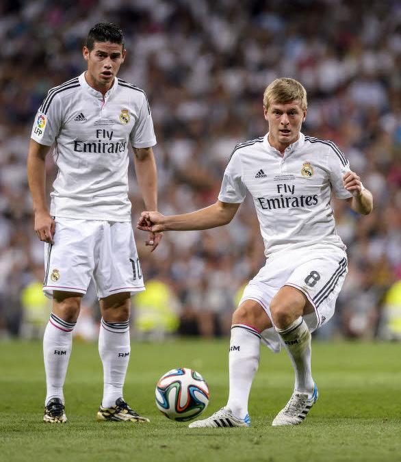 James Rodriguez et Toni Kroos, Real Madrid