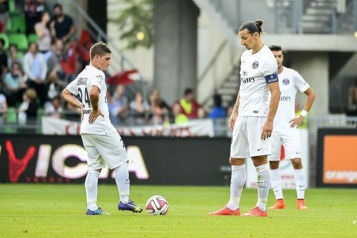 Zlatan Ibrahimovic et Marco Verratti, PSG