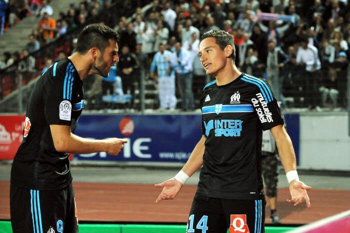 Florian Thauvin avec André-Pierre Gignac, OM