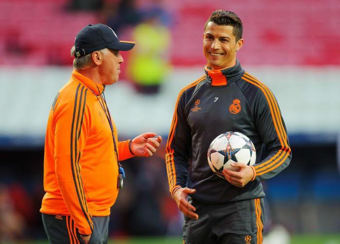 Ancelotti et Ronaldo au Real Madrid