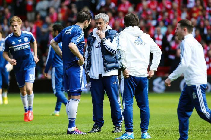 Frank Lampard et José Mourinho