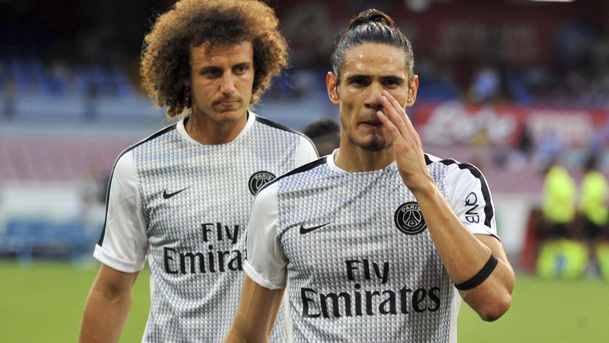 David Luiz & Edinson Cavani, PSG