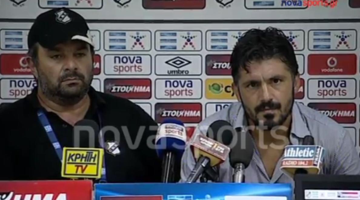 Quand Gennaro Gattuso pète un plomb en conférence de presse ! (vidéo)