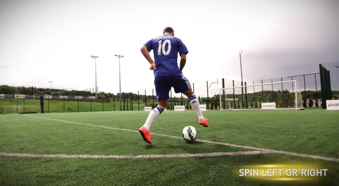 FIFA 15 : Démonstration de gestes techniques avec Eden Hazard (vidéo)