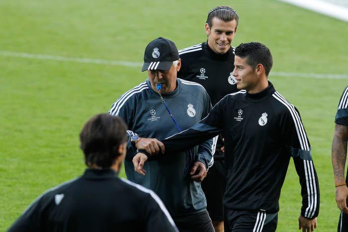Carlo Ancelotti et James Rodriguez, Real Madrid
