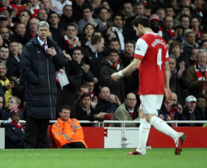 Arsène Wenger et Cesc Fabregas