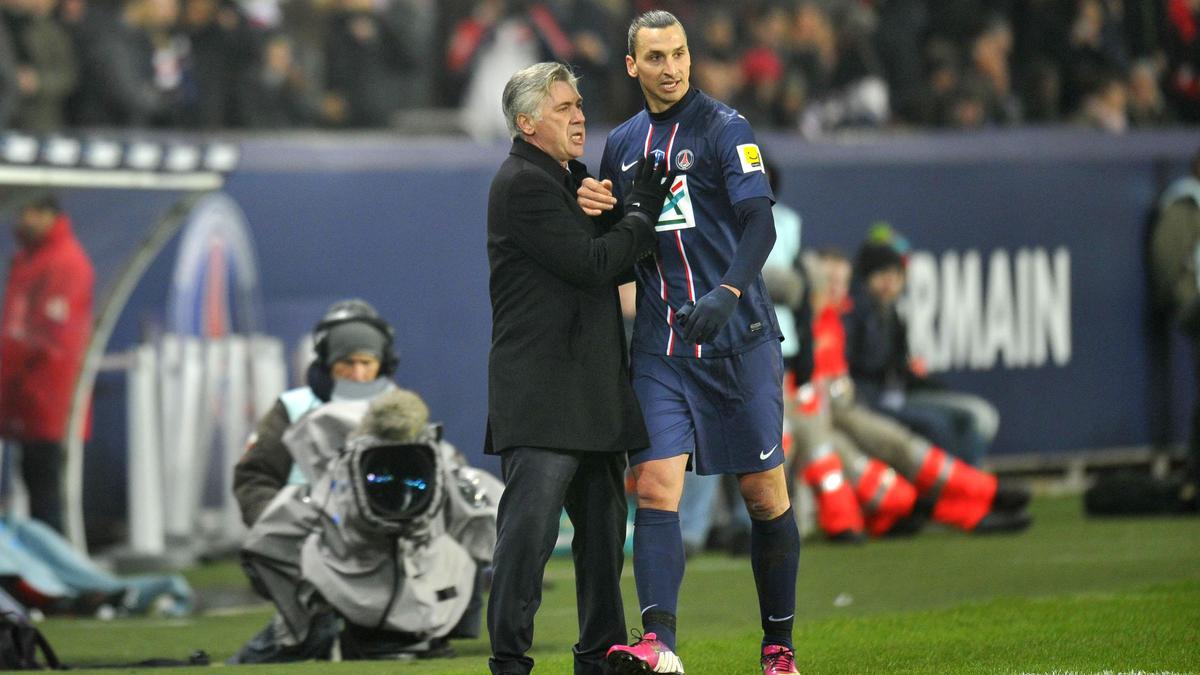 Carlo Ancelotti - Zlatan Ibrahimovic, PSG
