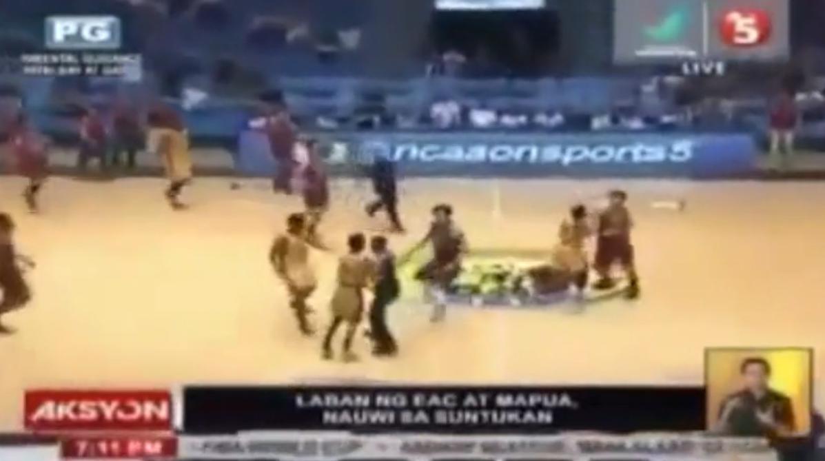 Basket : Une énorme bagarre générale lors d'un match universitaire ! (vidéo)