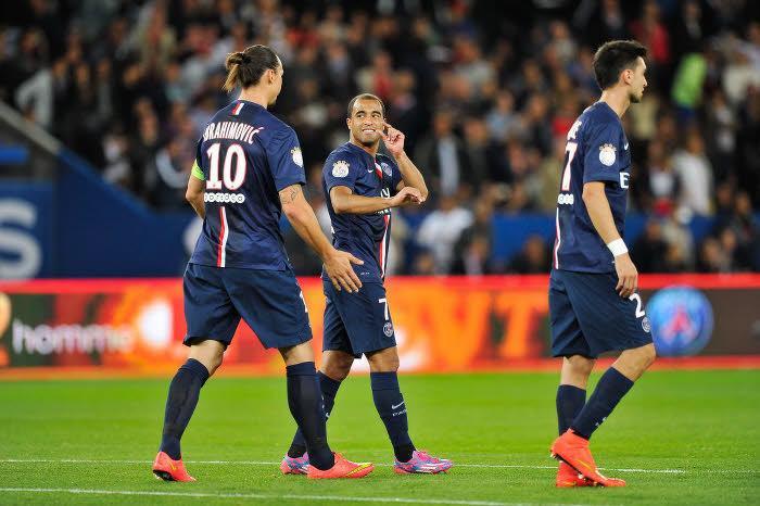 Lucas, Ibrahimovic, PSG