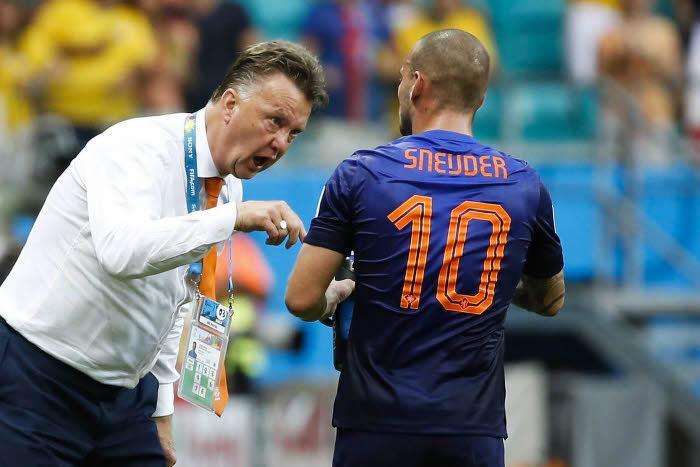 Louis Van Gaal et Wesley Sneijder