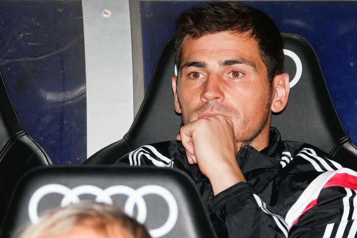 Iker Casillas sur le banc du Real Madrid