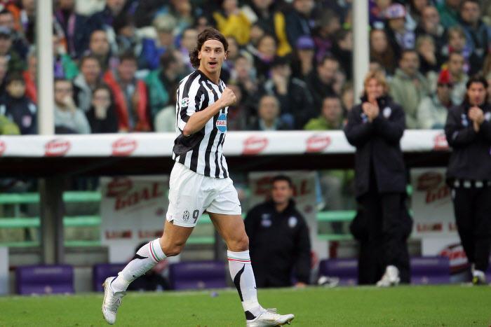 Zlatan Ibrahimovic, avec la Juventus Turin en 2005
