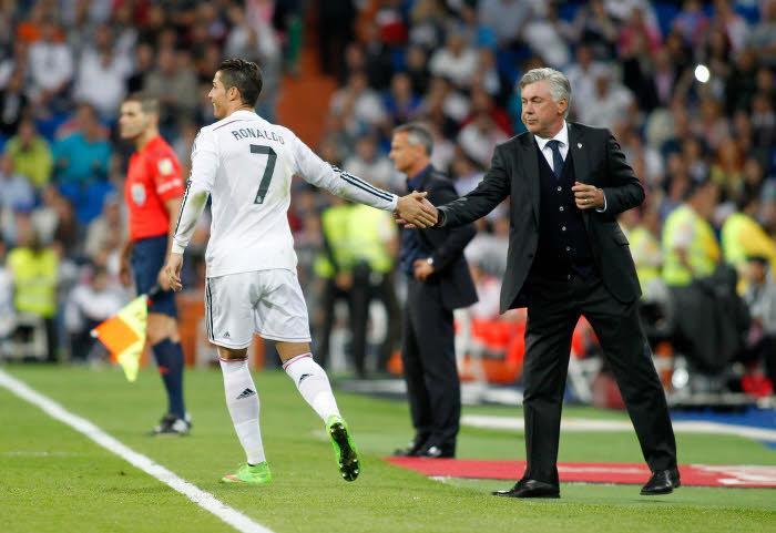 Carlo Ancelotti et Cristiano Ronaldo, Real Madrid