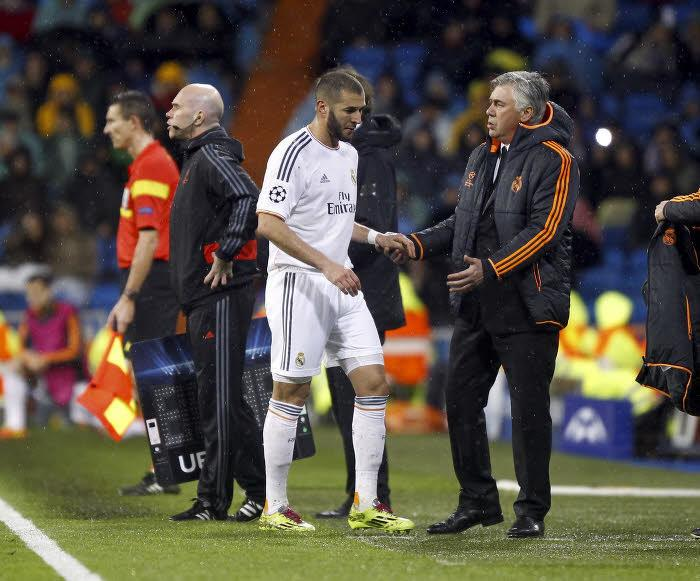 Karim Benzema et Carlo Ancelotti, Real Madrid