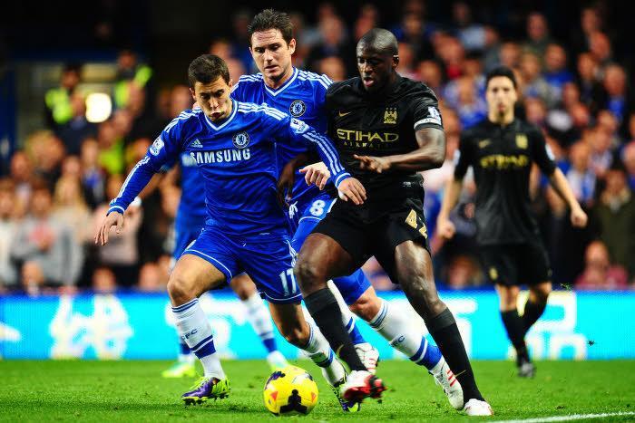 Eden Hazard et Frank Lampard, en octobre 2013