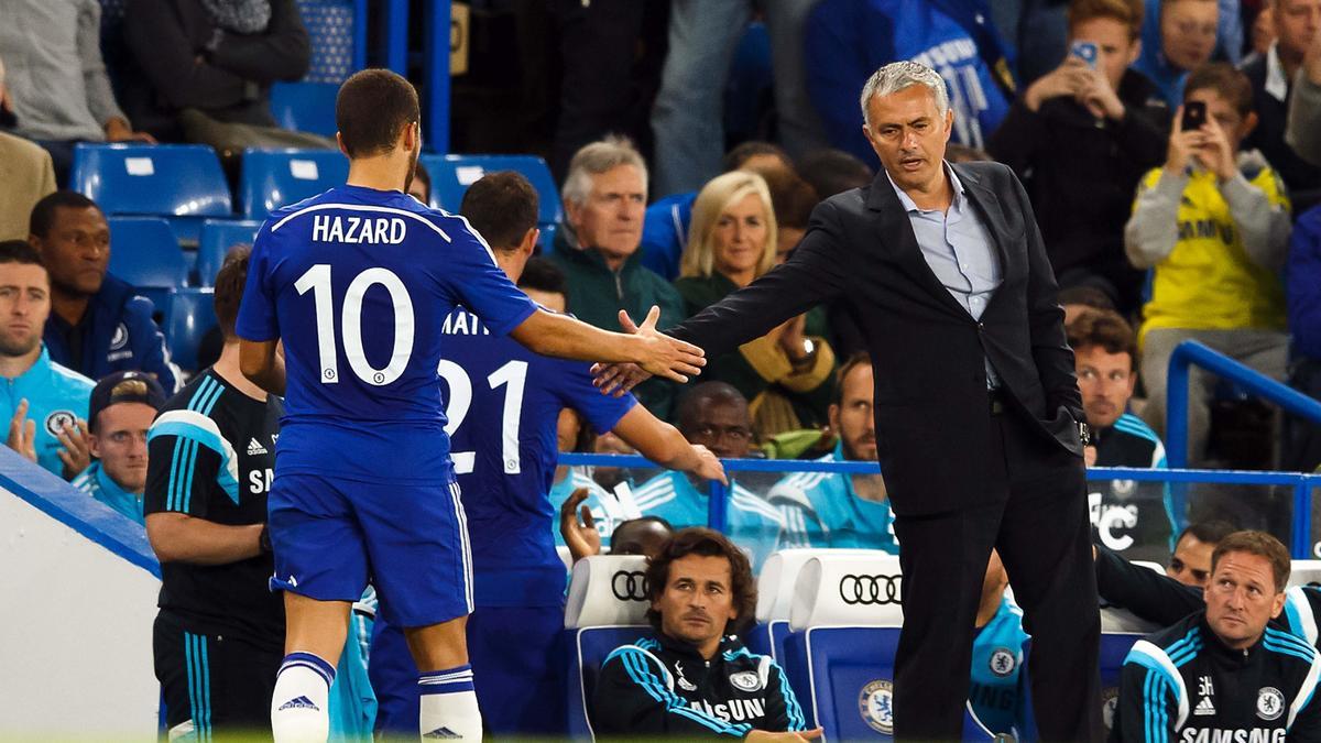 Eden Hazard & José Mourinho, Chelsea