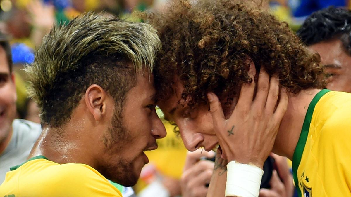 Neymar - David Luiz, Brésil