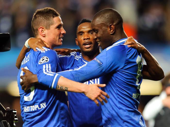 Fernando Torres, Samuel Eto'o et Demba Ba, Chelsea