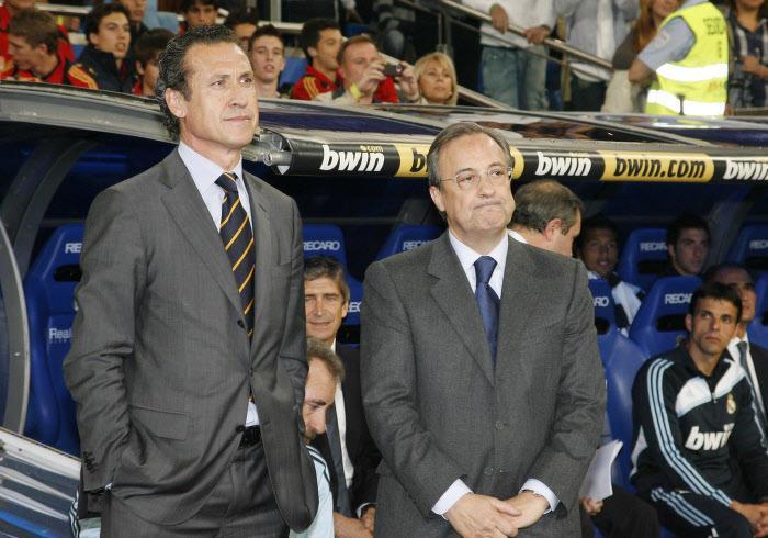Jorge Valdano et Florentino Pérez, en 2009