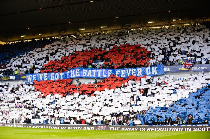 Supporters des Glasgow Rangers