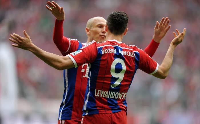 Arjen Robben et Robert Lewandowski, Bayern Munich