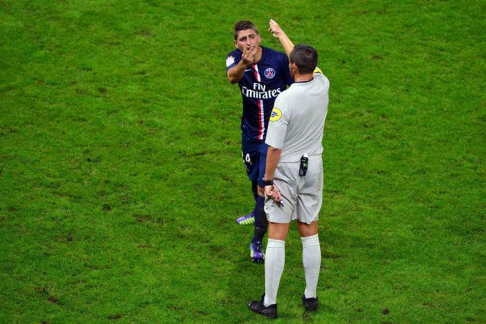 Marco Verratti face à Stéphane Lannoy