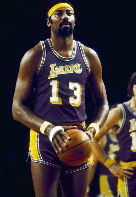 Wilt Chamberlain, avec les Lakers en 1972