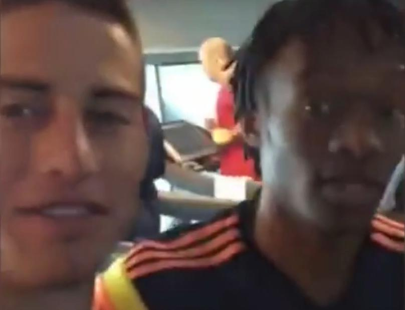 Real Madrid : James Rodriguez se moque d'un homme dans une salle de sport (vidéo)