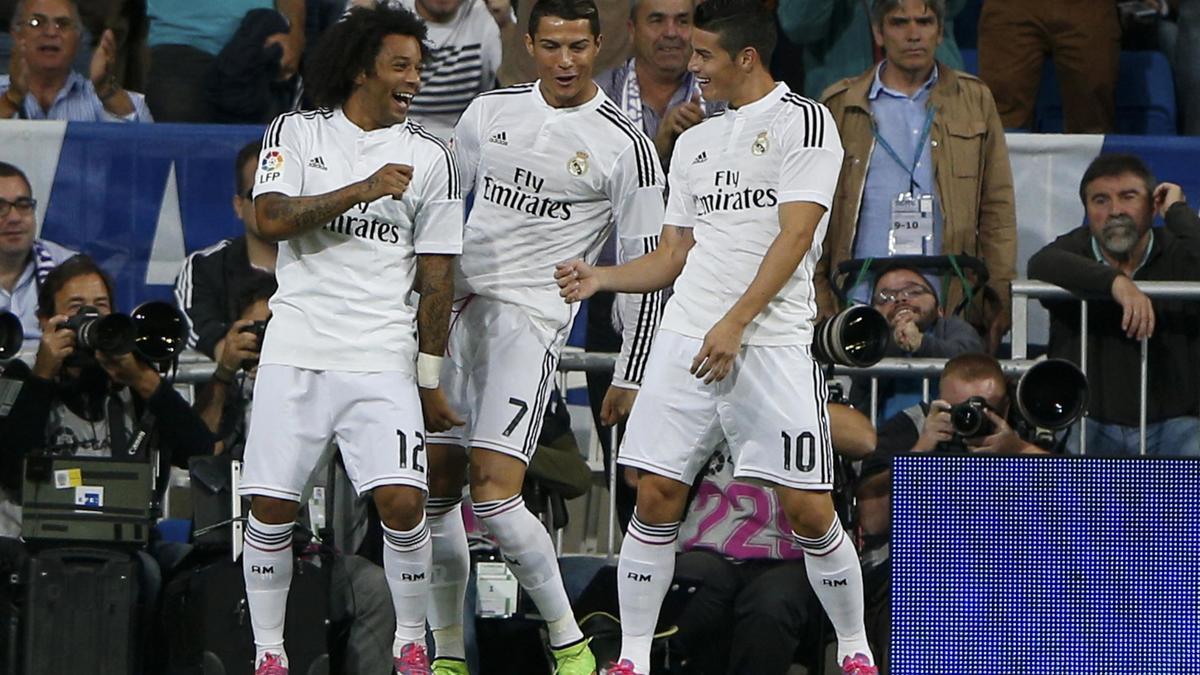 Marcelo, Cristiano Ronaldo & James Rodriguez, Real Madrid