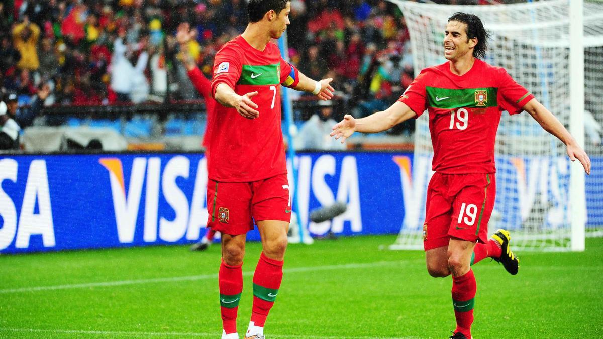 Cristiano Ronaldo et Tiago, en 2010