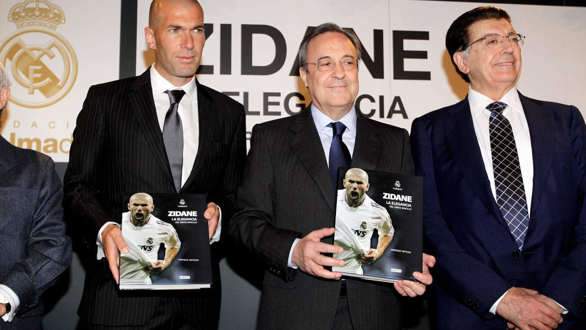 Zinédine Zidane et Florentino Pérez, en 2011