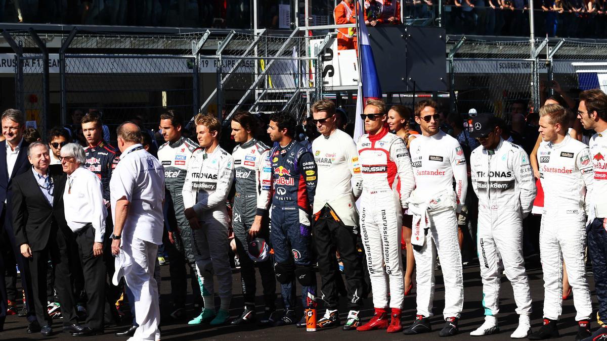 Hommage des pilotes à Jules Bianchi